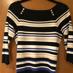 WHBM 3/4 Sleeve Sweater, Size S